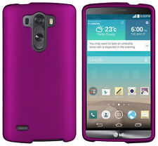 PURPLE RUBBERIZED PROTEX HARD CASE PROTECTOR COVER FOR LG G3 VIGOR MINI BEAT