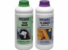 NIKWAX TECH WASH/TX DIRECT 1 Litre TWIN PACK Clothing Waterproofing waterproofer