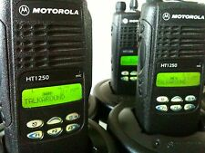 (8) MOTOROLA HT1250 LOW BAND 29-42MHz 128ch radio AAH25BEF9AA5AN Bat Ant Charger