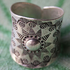 THAI KAREN HILL TRIBE PURE SILVER RING Size. US=10/T Adjustable