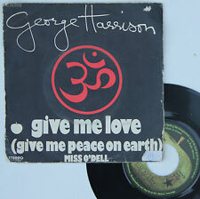 "Vinyle 45T George Harrison  ""Give me love"""