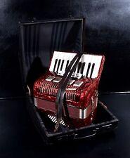 VECCHIO/Vintage Top Pianoforte FISARMONICA tedesca Weltmeister 40 bassi, 5 SW. con CUSTODIA RIGIDA!