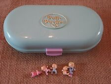 Vintage Polly Pocket Bluebird Babysitting Stamper Compact Case J2