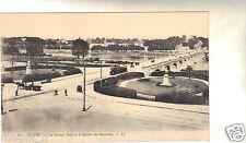 37 - cpa - TOURS - Le Grand Pont et le square de Descartes (H9260)