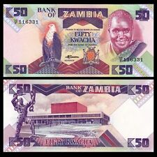 Zambia 50 Kwacha 1986-1988 Banknote Currency UNC #436