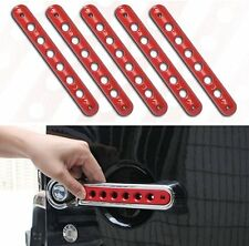 Front Door & Back Door Aluminum Grab Red Handle Cover For 07-16 Jeep Wrangler