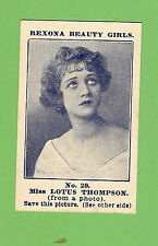 #D43.  1921 REXONA SOAP BEAUTY GIRLS CARD #29 - MISS  LOTUS THOMPSON