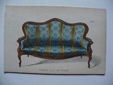 Gravure, décoration, canapé Louis XV Gondole