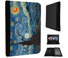 905 Vincent Van Gogh Starry Night Case Flip Cover For Kindle Fire 7'' 2015