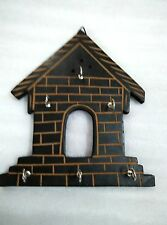 Wooden Hut Shape Wall House Kitchen Key Stand Holder Home Decor Gift Item
