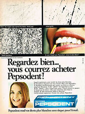 PUBLICITE ADVERTISING 014   1971   PEPSODENT   dentifrice