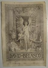 David Belasco Ex-Libris Bookplate