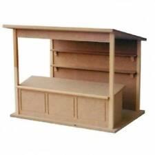 Market Stall Kit, Dolls House Miniature 1.12 Scale Flat Packed Doll House Shop