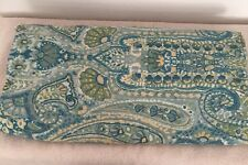Pottery Barn Cotton Blue Green Rosalie Paisley Full Queen Duvet Cover EXCELLENT!