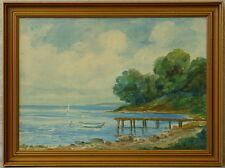 """Jorgen luplau Janssen * 1912 """"barca a remi sul pontile"""""""