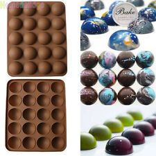 20-Half Ball Silicone Chocolate Mould Fondant Cake Candy Decorating Baking Tools