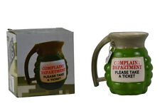 Ceramic Novelty Grenade Coffee Mug Complaint Department Prank Party Gag Gift