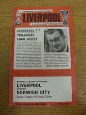 02/02/1974 Liverpool v Norwich City  (Creased). Thanks for viewing this item, we