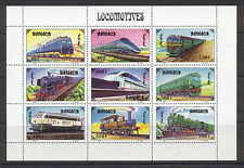 Mongolia 1997 Trains/Steam/Transport/Diesel 9v sht s717