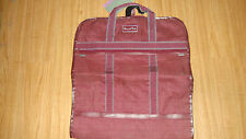 Oscar De La Renta Maroon Travel Hanging Garment Bag Luggage Great Shape NEW tags