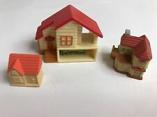 Sylvanian Families Miniature Doll Houses For The Dolls X 3