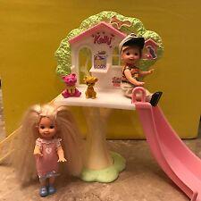 Mattel Barbie Kelly & Tommy Dolls In Treehouse