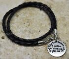 Leather Wristband Bracelet 'Love Between A Mother & Daughter', Ladies Girls Gift