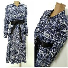 Vintage 80s Floral Dress Size XLarge Silk Sheath Full Secretary Formal Church