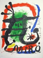 Joan Miro Original Lithograph Hand Numbered Limited Edition Oeuvres Graphique