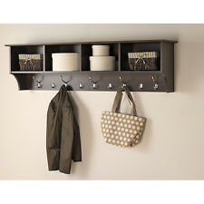 Entryway Shelf Organizer Rack Wall Mounted Hat Hanger Hanging Coat Hook Storage