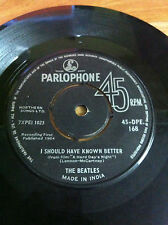 THE BEATLES 45 DPE 168 HAPPY JUST TO DANCE rare SINGLE INDIA first press sample