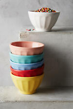 NIB Anthropologie Assorted Mini Latte Bowl Set of Six Multi Color
