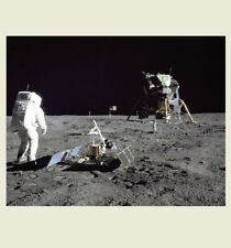 Apollo 11 Moon Walk Buzz Aldrin PHOTO MOON MISSION Lunar Module Eagle