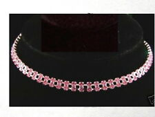 PINK RHINESTONE NECKLACE JEWELRY PET PUPPY Dog/Cat Collar 6mm width