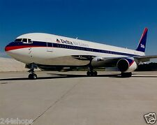 DELTA AIR LINES - 767 ER VINTAGE LIVERY ON TARMAC PHOTO- COLOR 8 X 10