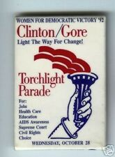 WOMEN for Clinton Gore TORCHLIGHT PARADE 1992 pin