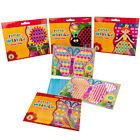 Basteln mit Papier Bilder weben Kreativset Kinder Webpapierbild Bastelset