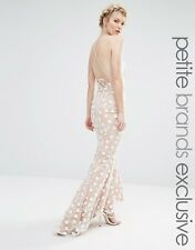 NEW Jarlo Petite Halter Maxi Dress With Strapy Back Detail. Nude Size 6 RRP £115