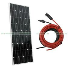 160W 12V Mono Solar Panel Kit  w/ Extension Cable and MC4 Connector for RV Boat