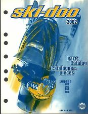 2002 SKI-DOO LEGEND 500,600,700,& 800 PARTS MANUAL P/N 484 400 273  (197)