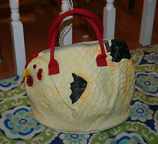 PiQ Hen Chicken Rubber Satchel Handbag