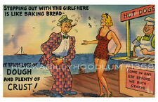 "Novelty Poster 11"" x 17"" Retro Comic Art Pin Up Girl Hot Dog Stand Sugar Daddy"