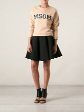 BEAUTIFUL MSGM Black Cotton Zip Full Flared Skirt $300! Celeb-fav!