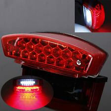Universal 21 LED Motorcycle Rear Tail Brake Light License Number Plate Lamp 12V