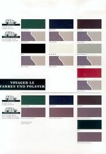 Chrysler voyager se colores folleto d 10/94 brochure paintwork 1994 auto automóviles EE. UU.