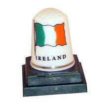 Ceramic Irish Flag Thimble Collectors piece New Ireland tri color 7407