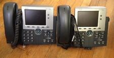 (2) Cisco IP Phone 7945 VIOP 7945G Systems Unified Hand Set Stand Ethernet Cord