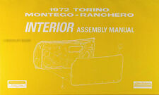 1972 Interior Assembly Manual Ranchero Montego Torino Gran 72 Ford Mercury