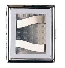 JEAN CLAUDE Zigarettenetui nickel mit Fenster 18er Bügel beidseitig NEU