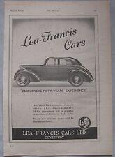 1946 Lea-Francis cars Original advert No.1